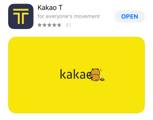 Order a Taxi easily with Kakao T